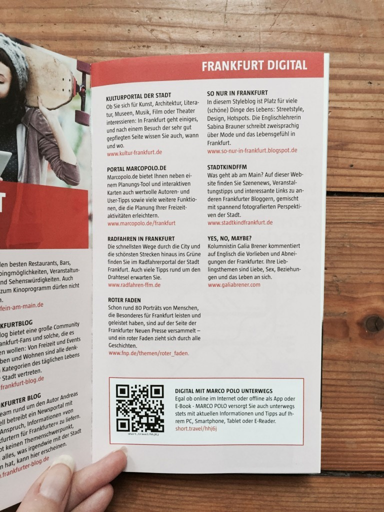 Len Frankfurt marco polo city guide frankfurt 2015 galia brener