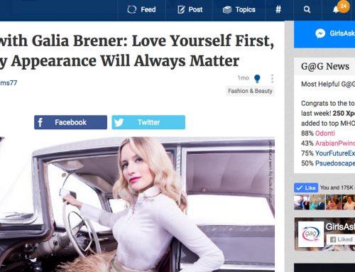 GirlsAskGuys Interview with Galia Brener