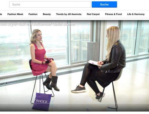 Exklusiv: Yahoo Style-Talk mit Influencer Galia Brener