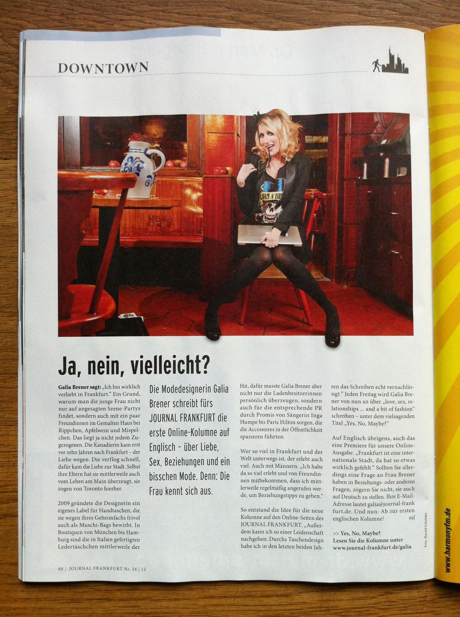Journal_Frankfurt 09.11.2012_Yes, No, Maybe? promo_3
