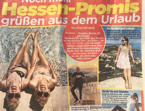 BILD Newspaper – Celebrities on Holiday – Summer 2018
