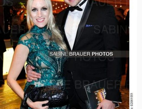 Sportpresseball 2018: Galia Brener with Andreas Rexroth