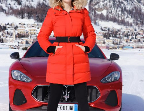 Galia Brener x Maserati at the Snow Polo World Cup in St. Moritz 2019