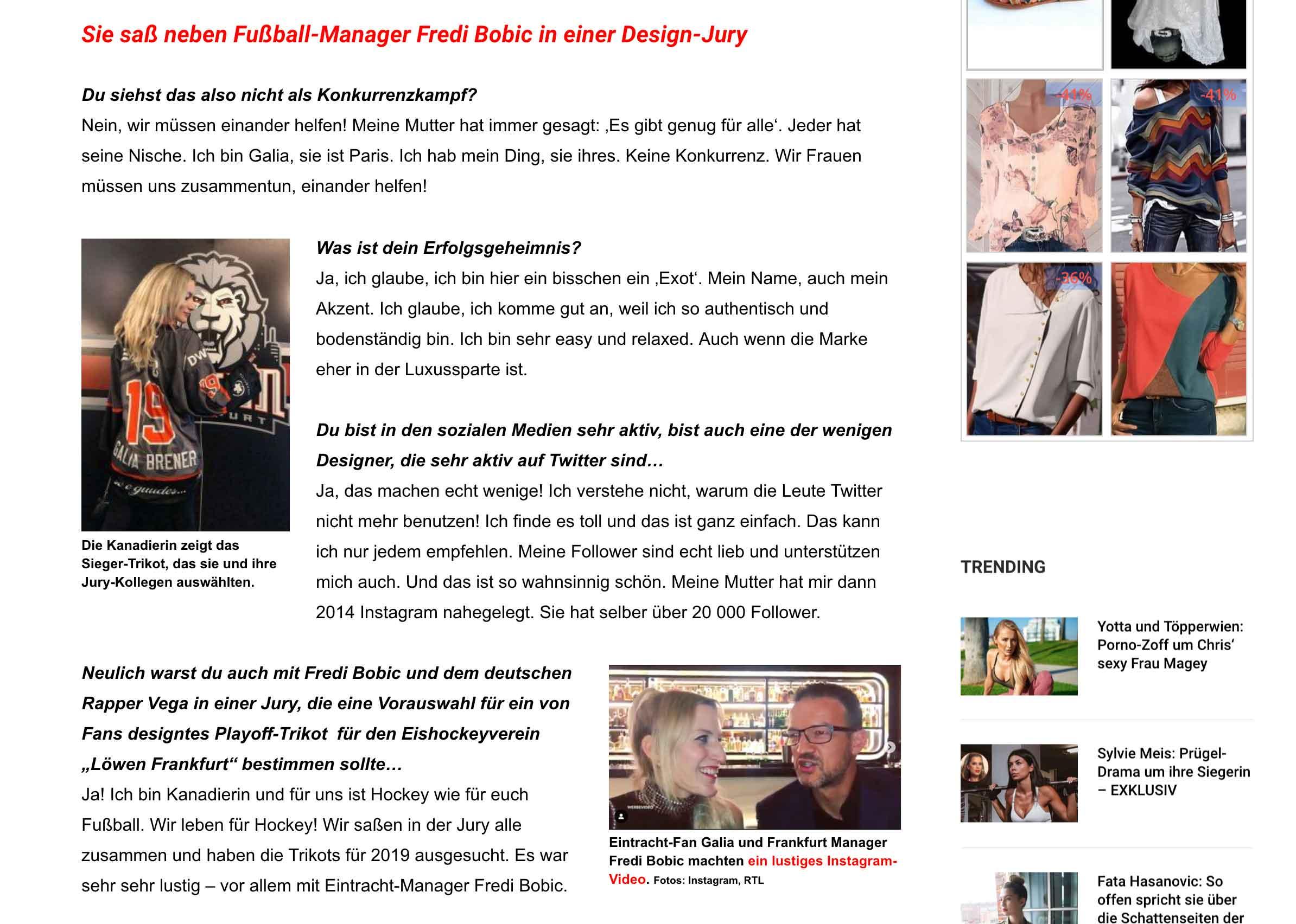 Interview With Boulewahr Magazine Galia Brener